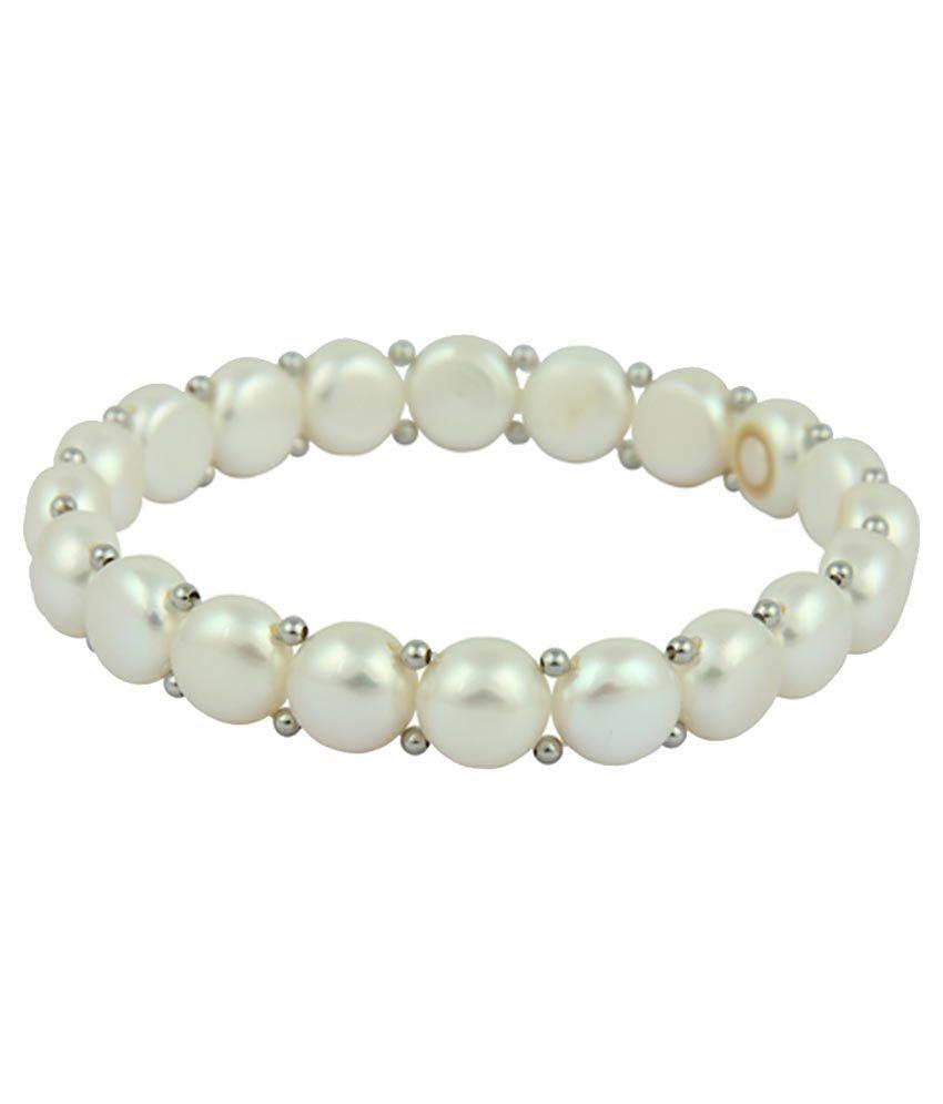 Pearlz Ocean White Designer Adjustable Bracelet