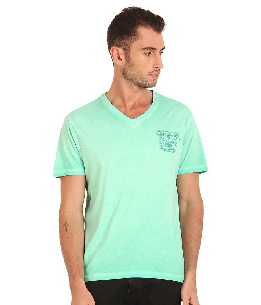 Sting Green Cotton Blend T Shirt