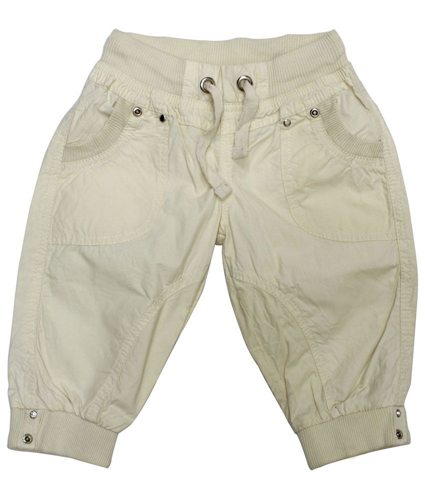 C.U.B Beige Capris For Girls