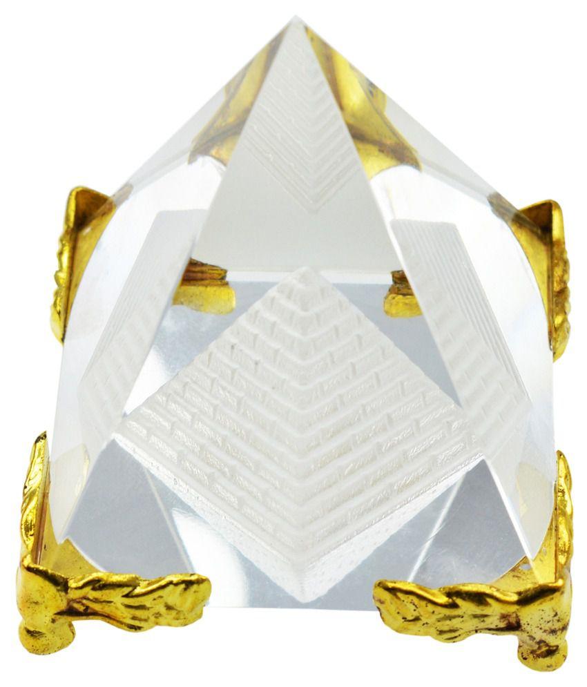 Da My Shop Crystal Pyramid Shree Yantra with Stand: Buy Da