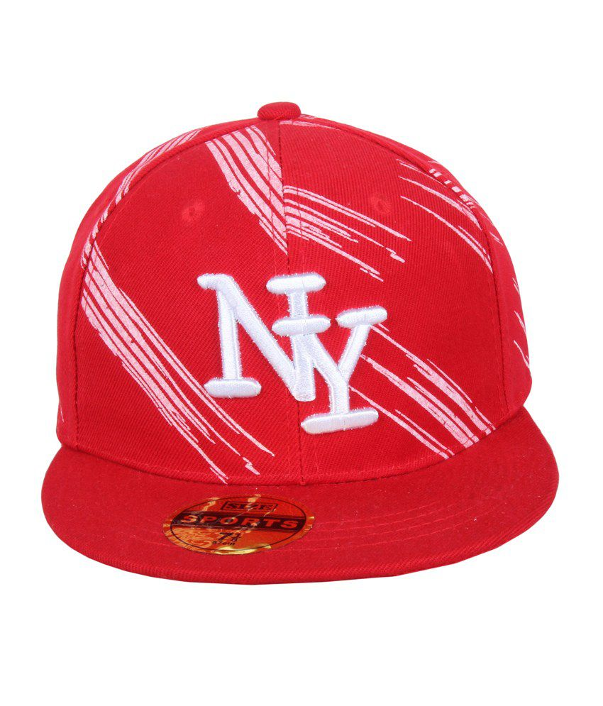 Jstarmart Red Polyester Baseball Cap For Men