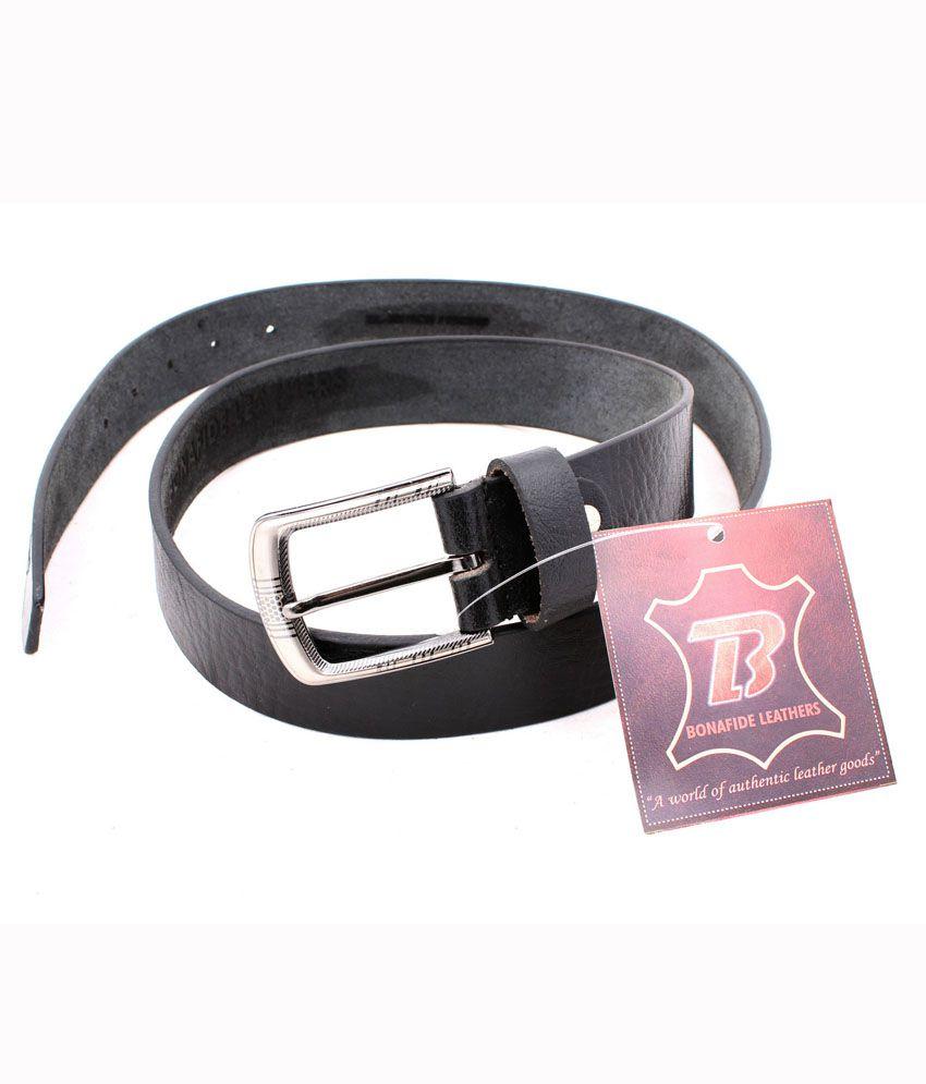 Bonafide Leather Black Belt