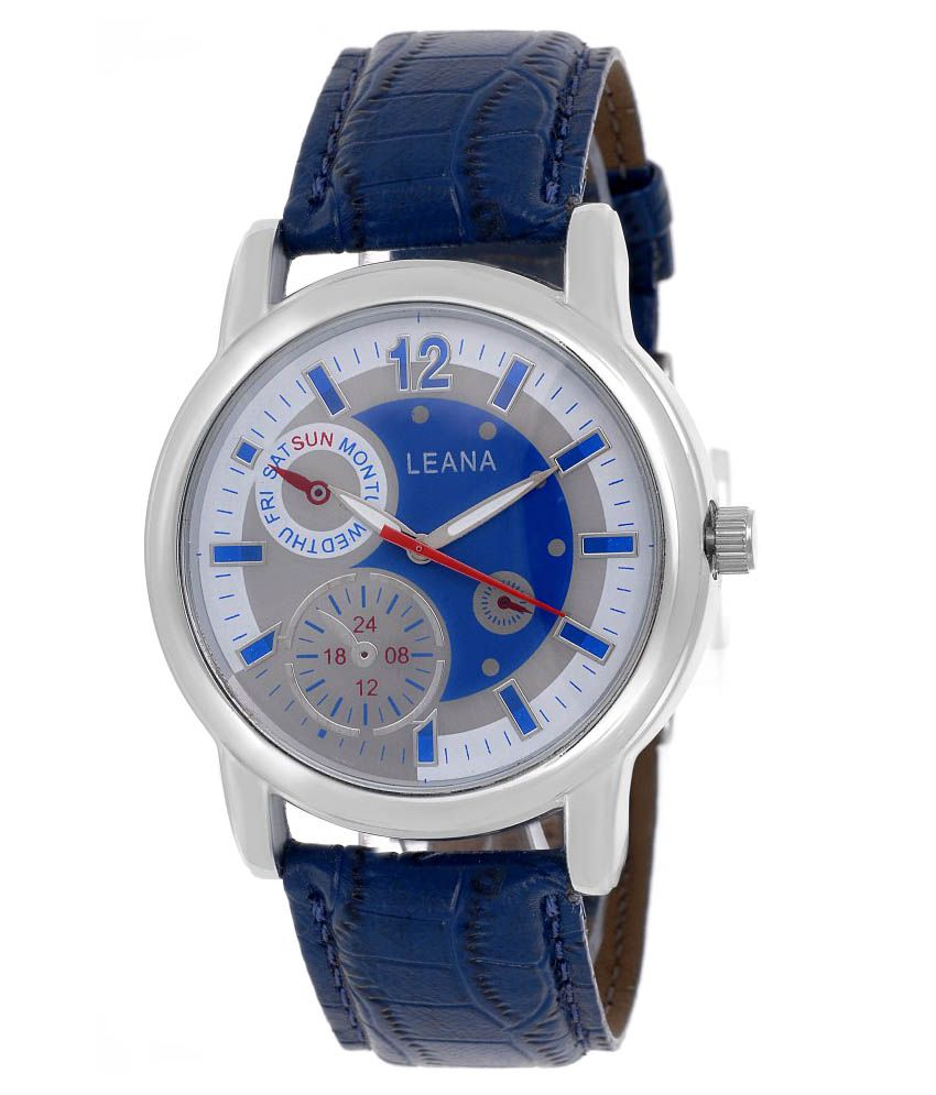 Leana Blue Wrist Watch