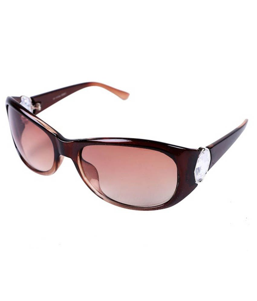 New Zovial BRW10935 Brown Oval Sunglass For Women