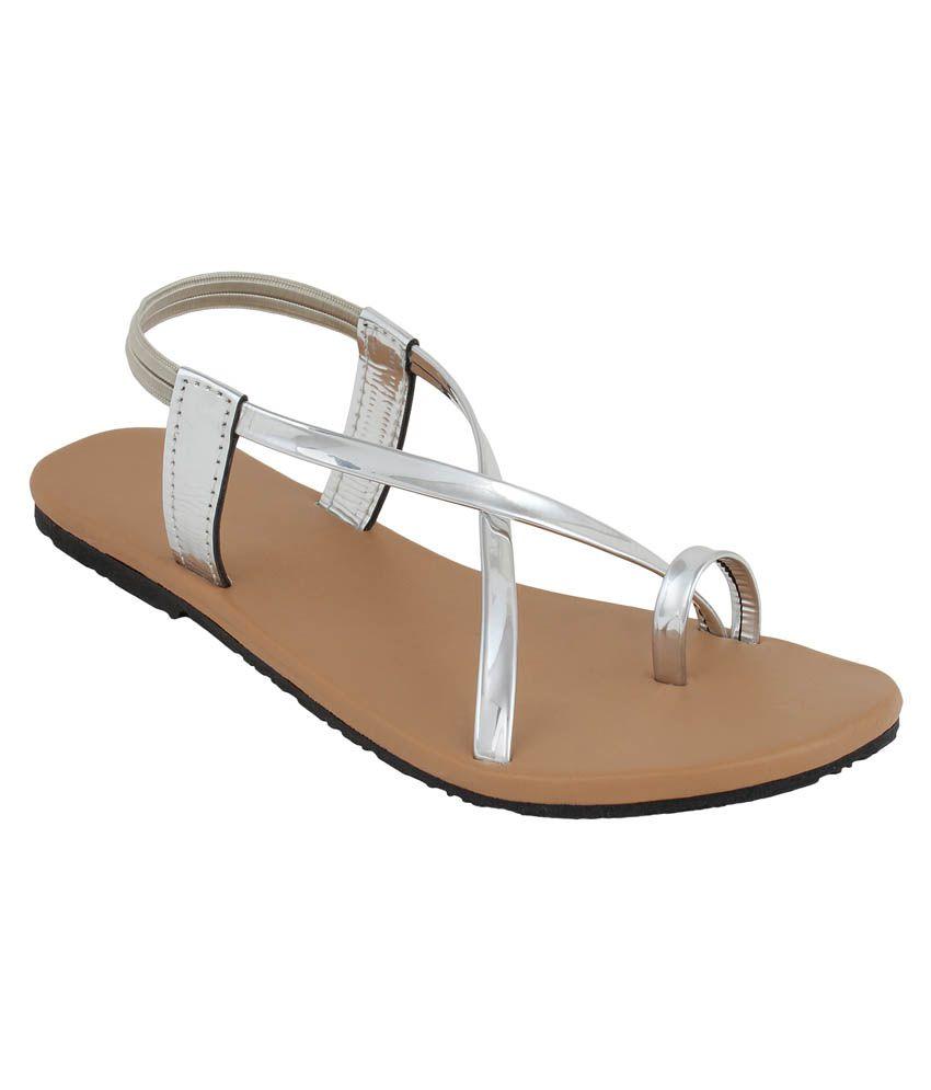 Niremo Silver Flat Slip-on