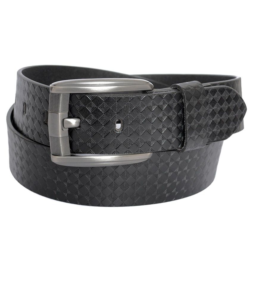 Genuine Leather Black Casual Belt