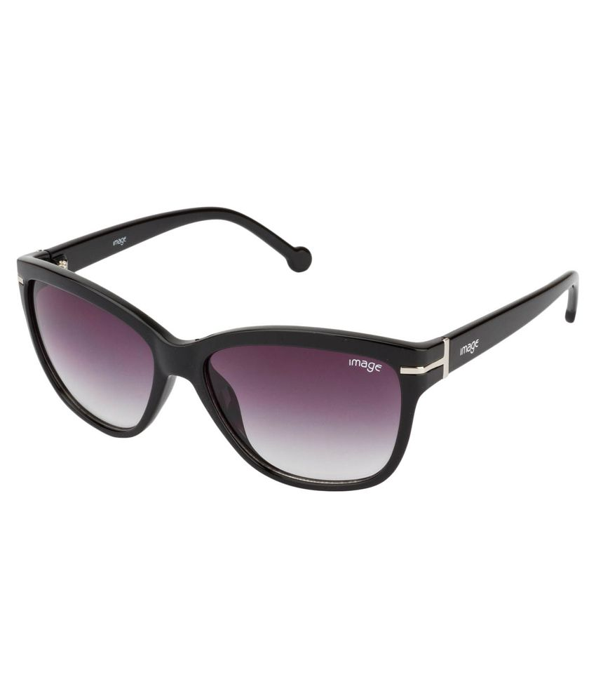 Image Black Frame Oval Shape Sunglasses