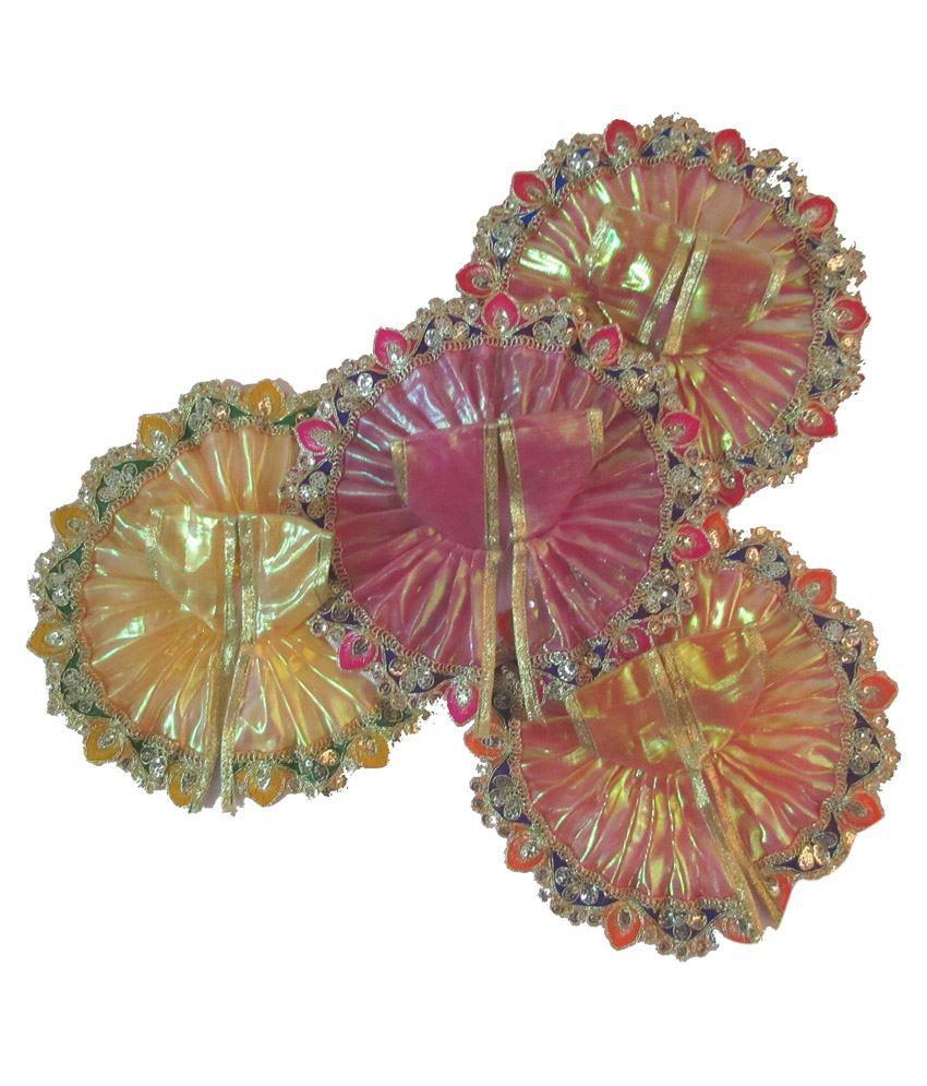 NDRR Multicolour Fabric Ladoo Gopal Poshak Pack Of 4