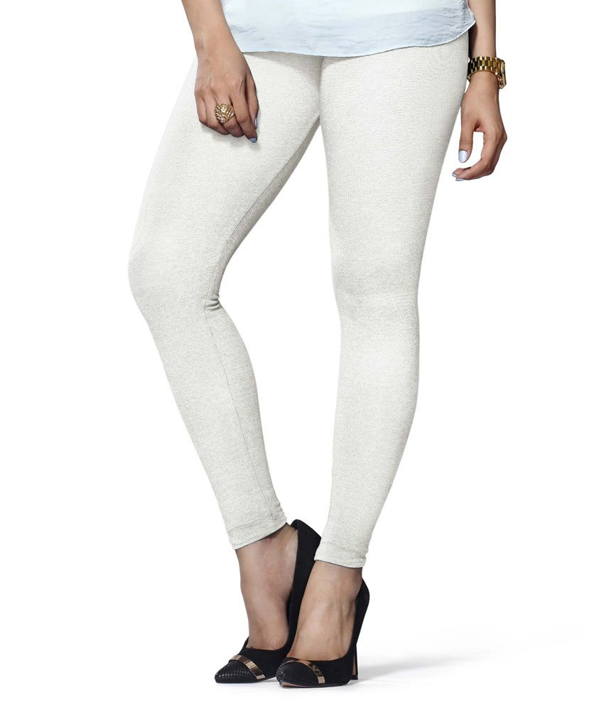 a40edf6bbf9ff Lux Lyra White Cotton Leggings Price in India - Buy Lux Lyra White Cotton  Leggings Online at Snapdeal