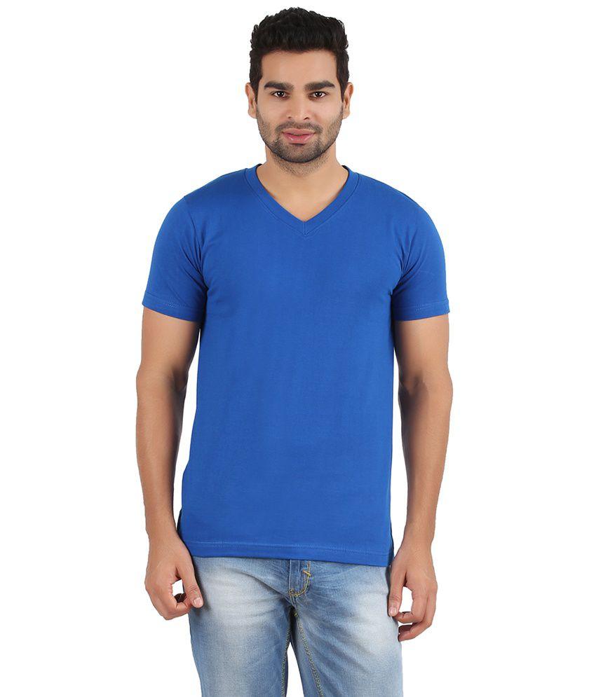 Pulse Blue Cotton T- Shirt