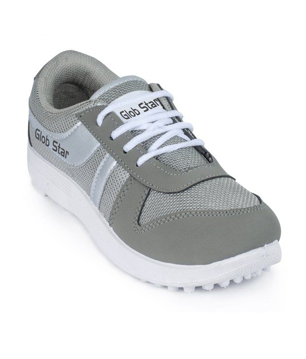Super Matteress Gray Canvas Running Sport Shoes