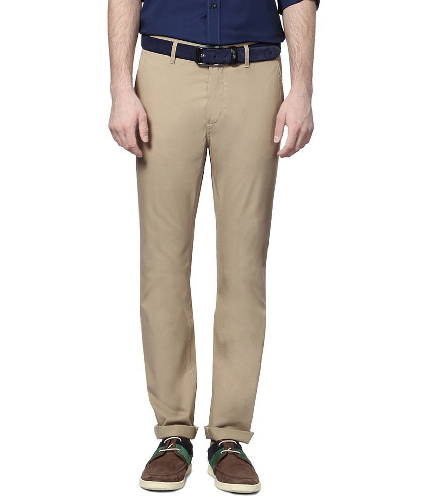 Allen Solly Beige Trouser for Men
