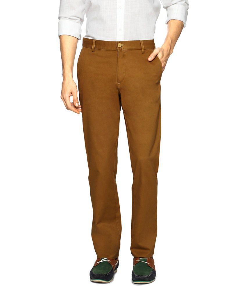 Allen Solly Brown Trouser for Men