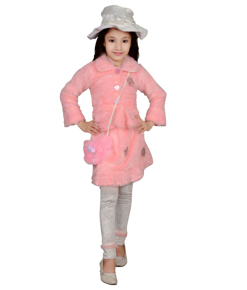 Angel Pink Wollen Padded Jacket