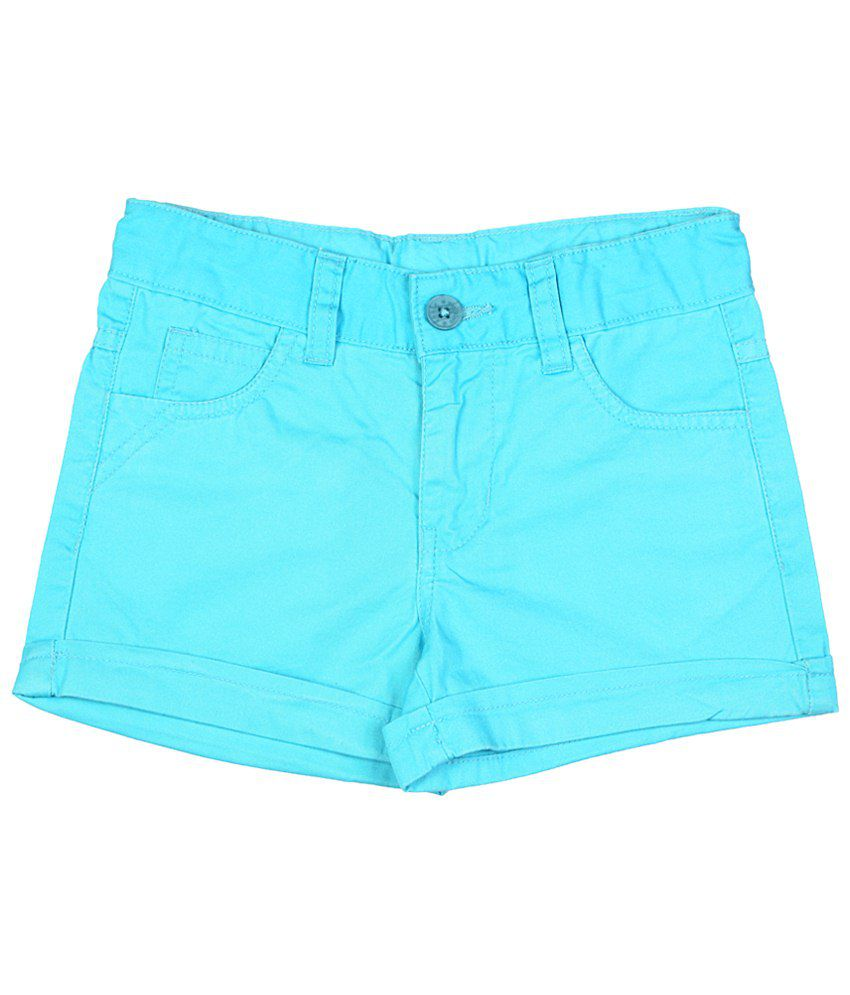 Chalk by Pantaloons Blue Shorts for Girls