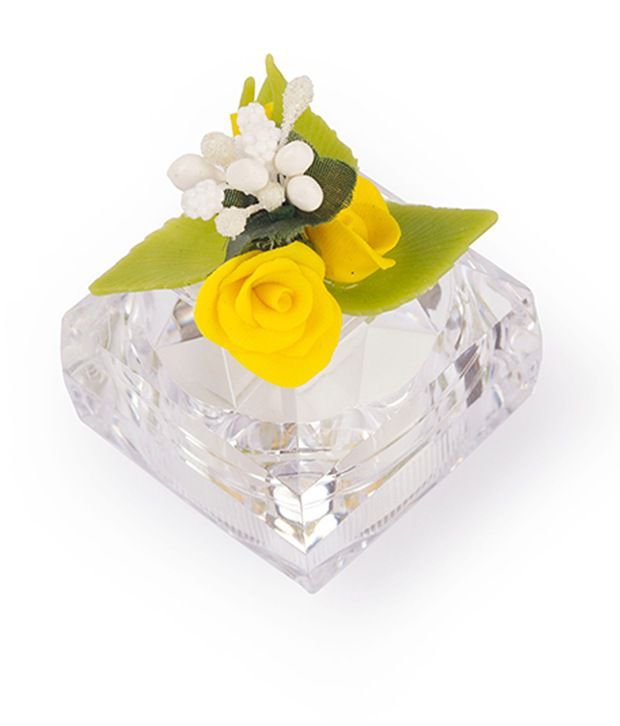 I-am Yellow and White Flowers Ring Box