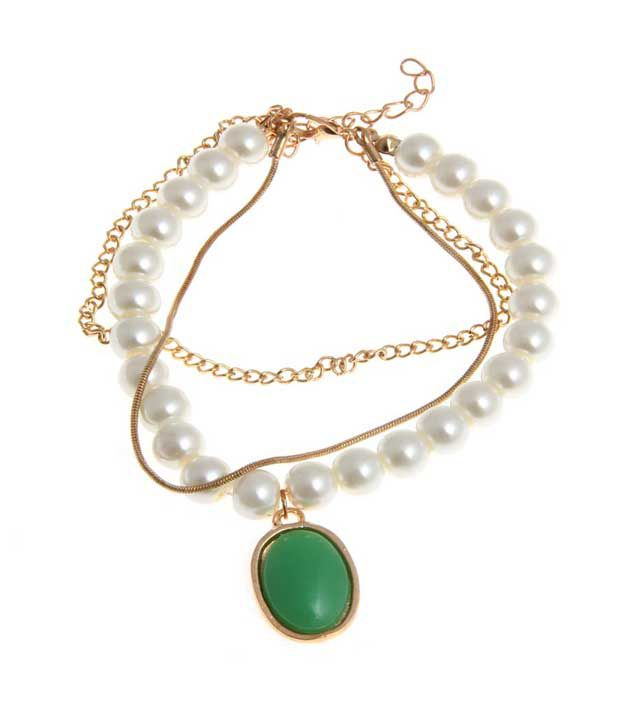Nirosha White Alloy Bracelet