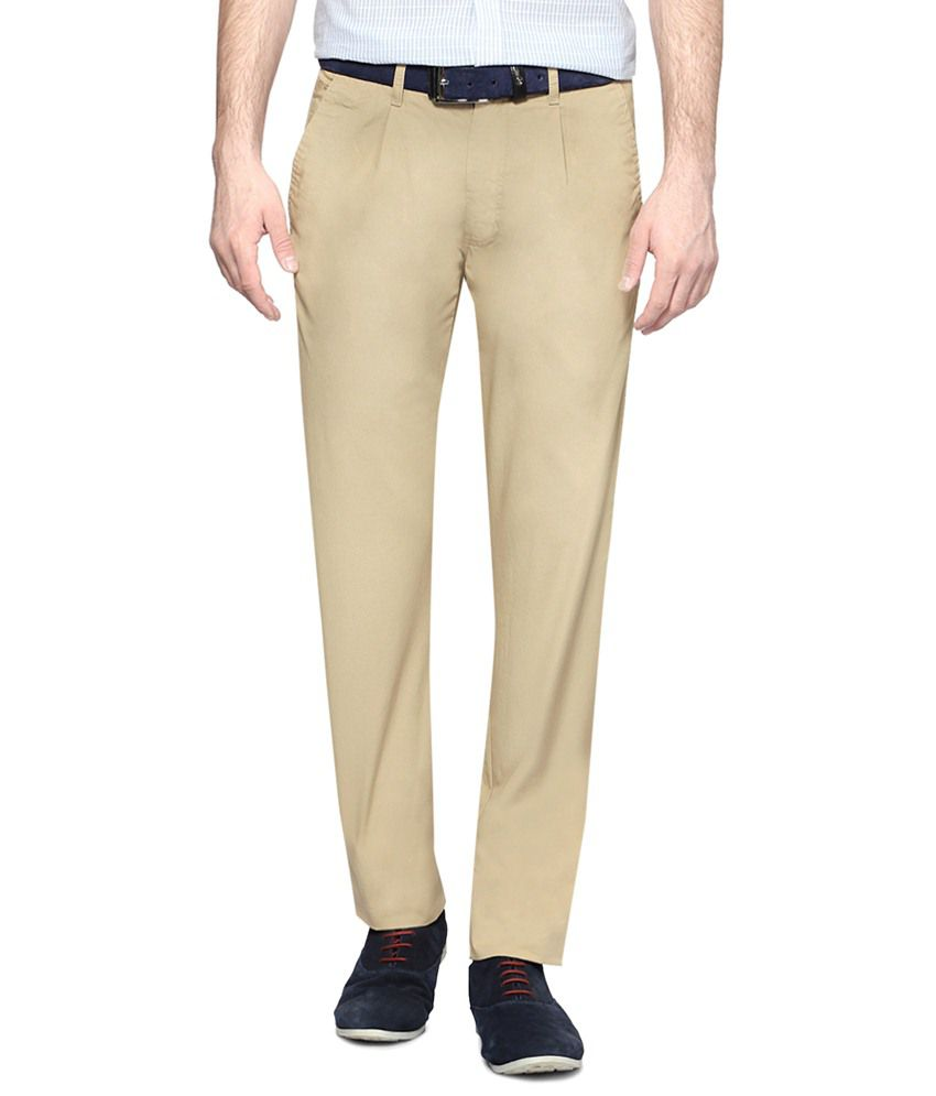 Van Heusen Beige Trouser for Men