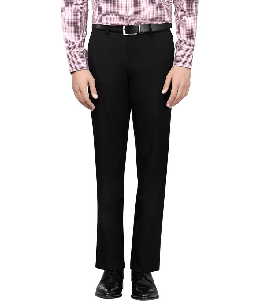 Van Heusen Comfy Black Trouser for Men