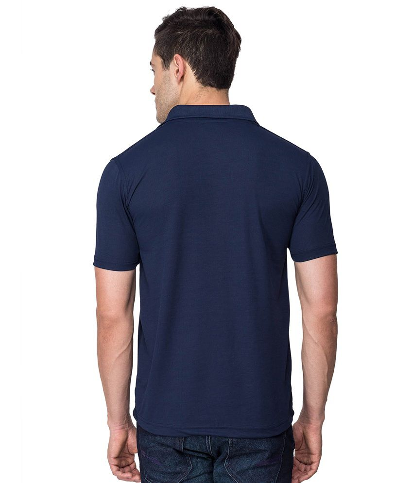 39900d386 Billy Buddha Solid Dri-Fit Navy Blue Polo Neck T Shirt - Buy Billy ...