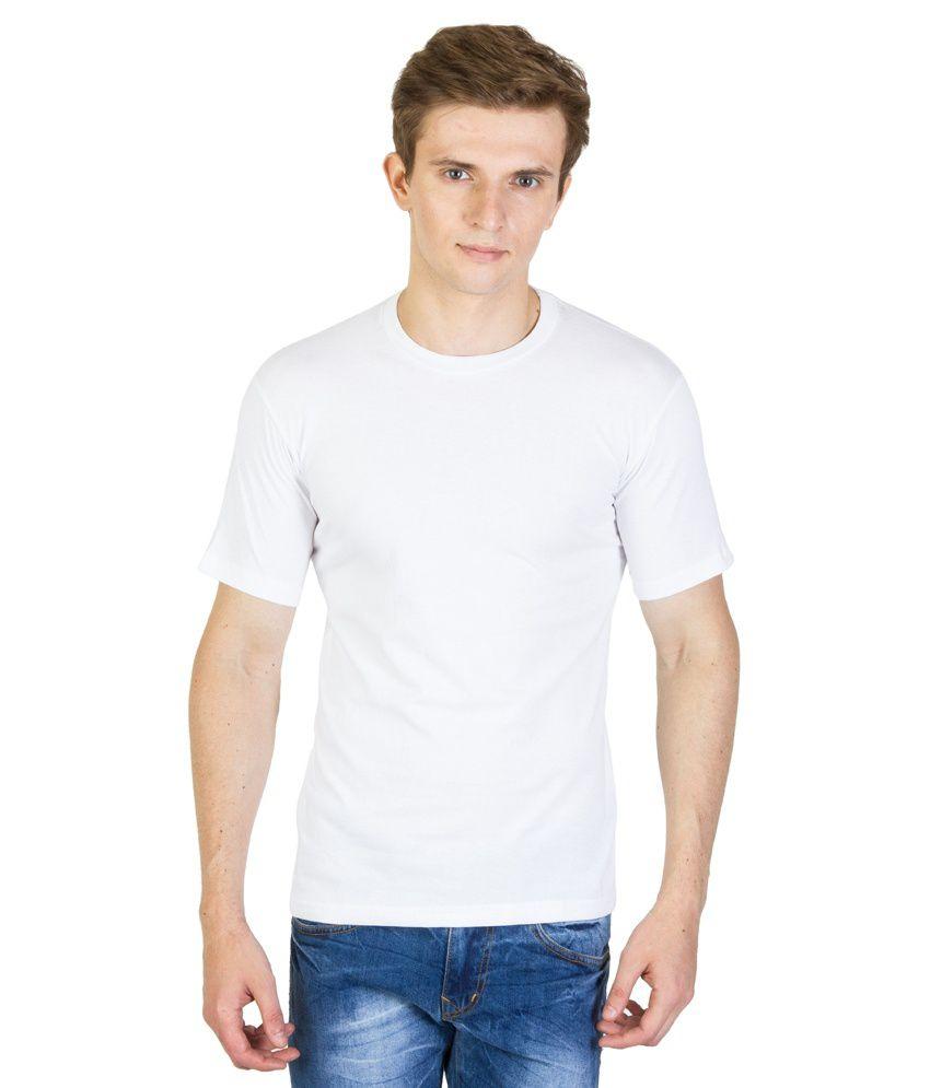 Khushi White Cotton Blend T Shirt Pack Of 2