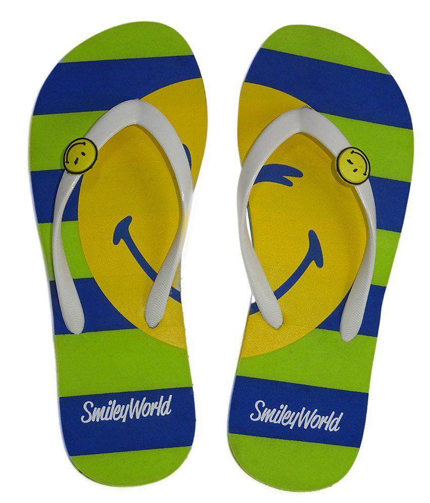 Smiley Multi Colour Flip Flops