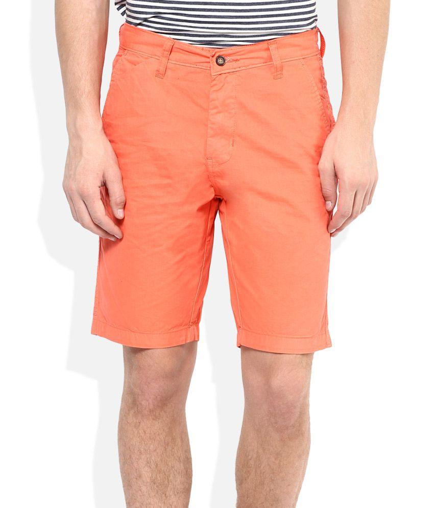American Swan Orange Solids Shorts