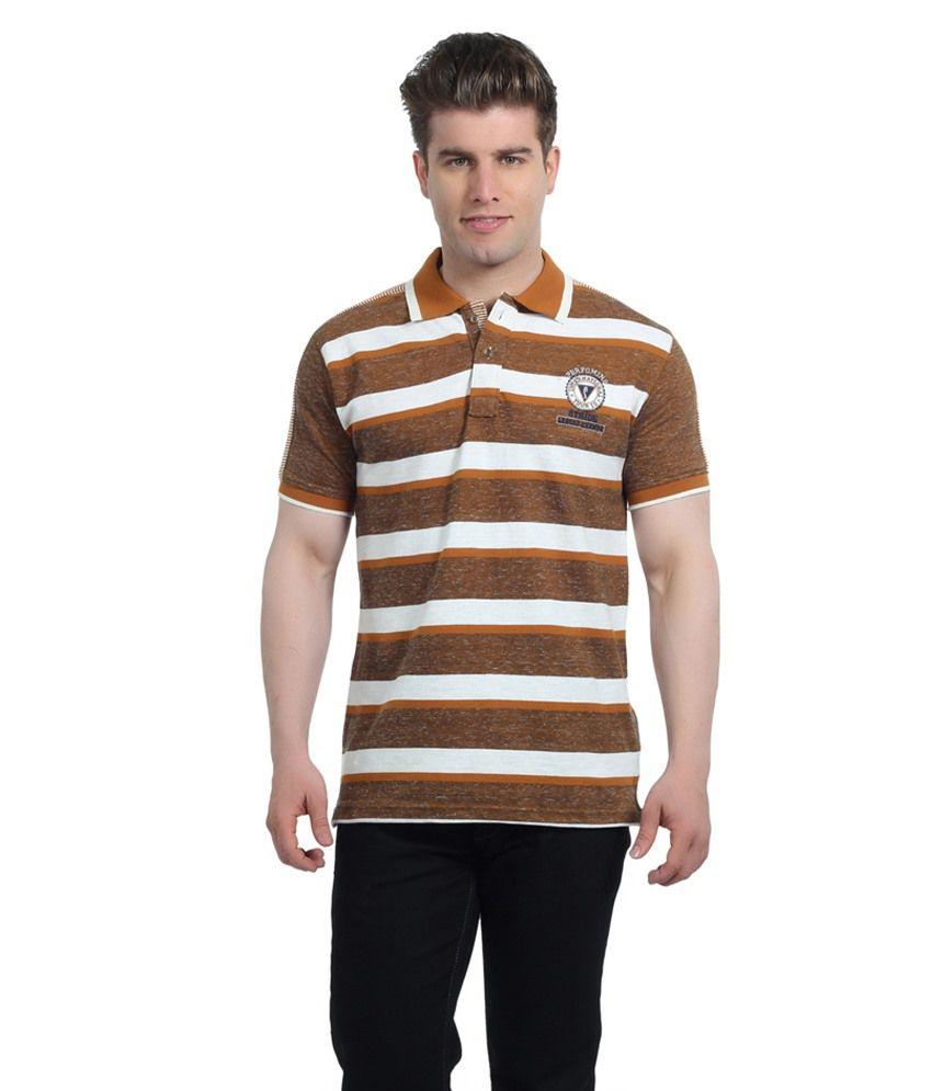 Stride Rust Multicolour Cotton T-Shirt