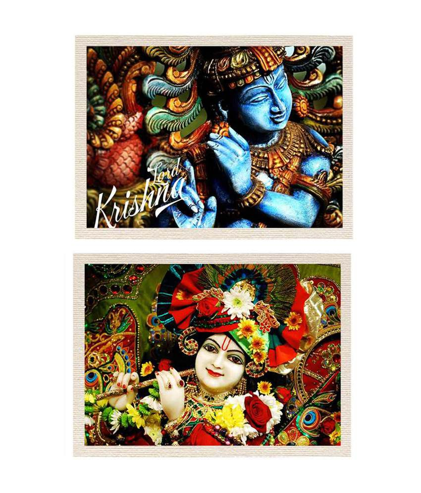 MeSleep Hare Krishna Canvas Painting without Frame - Combo