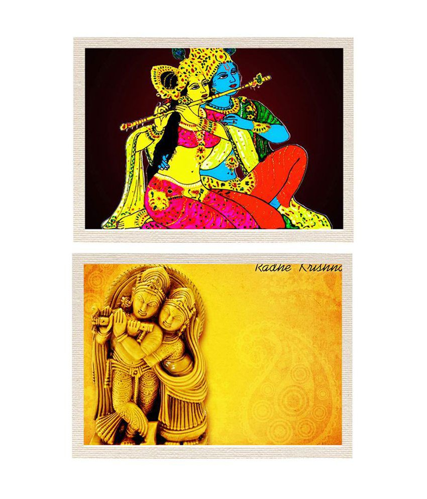MeSleep Radha Krishna Canvas Painting without Frame - Combo