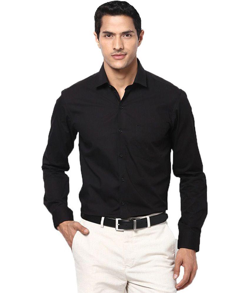 Style Black Formal Shirt