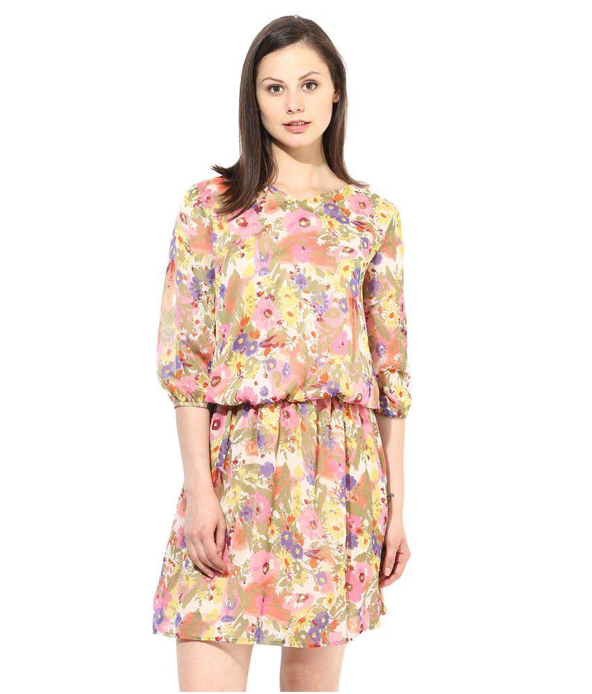Color Cocktail Multi Georgette Dresses