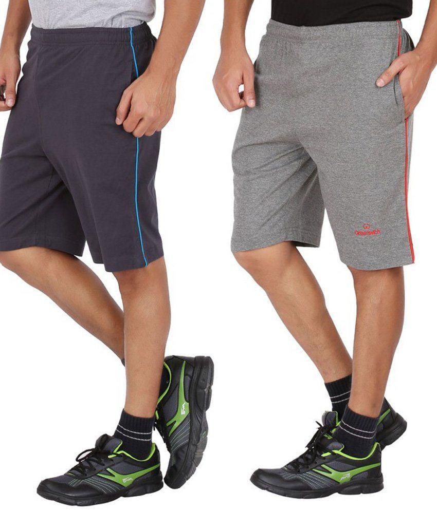 Greenwich Multicolour Cotton Shorts Set Of 2