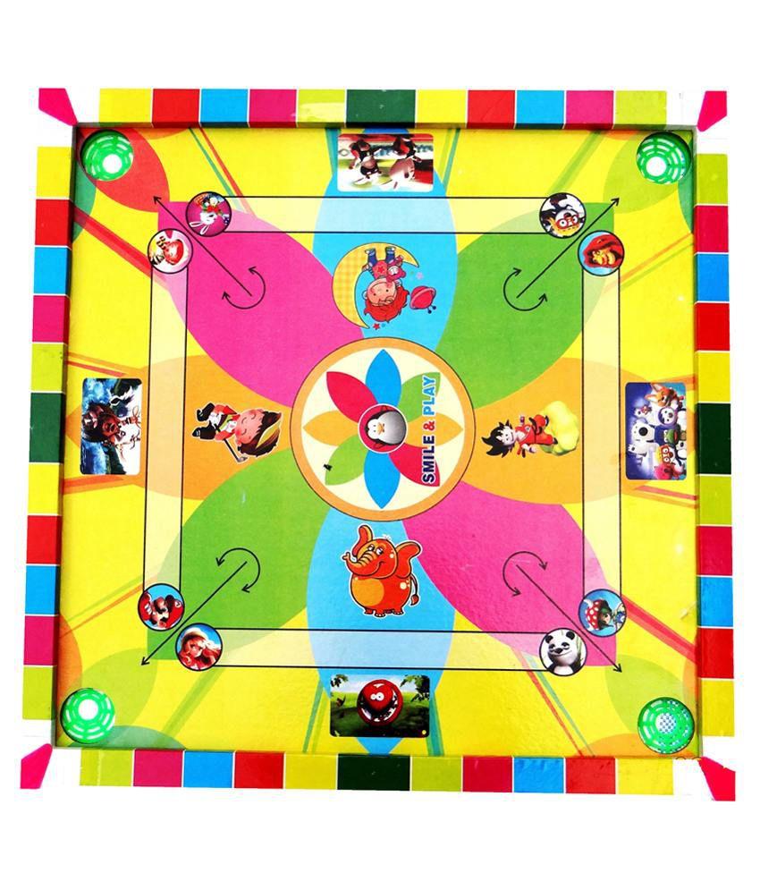 Star Multicolour Carrom Board - Set Of 2