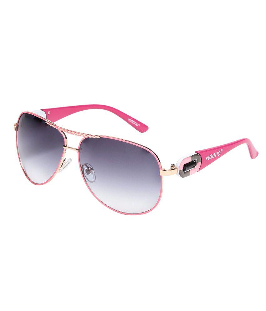 Viaano VI-DB55-01 Gray Aviator Sunglasses