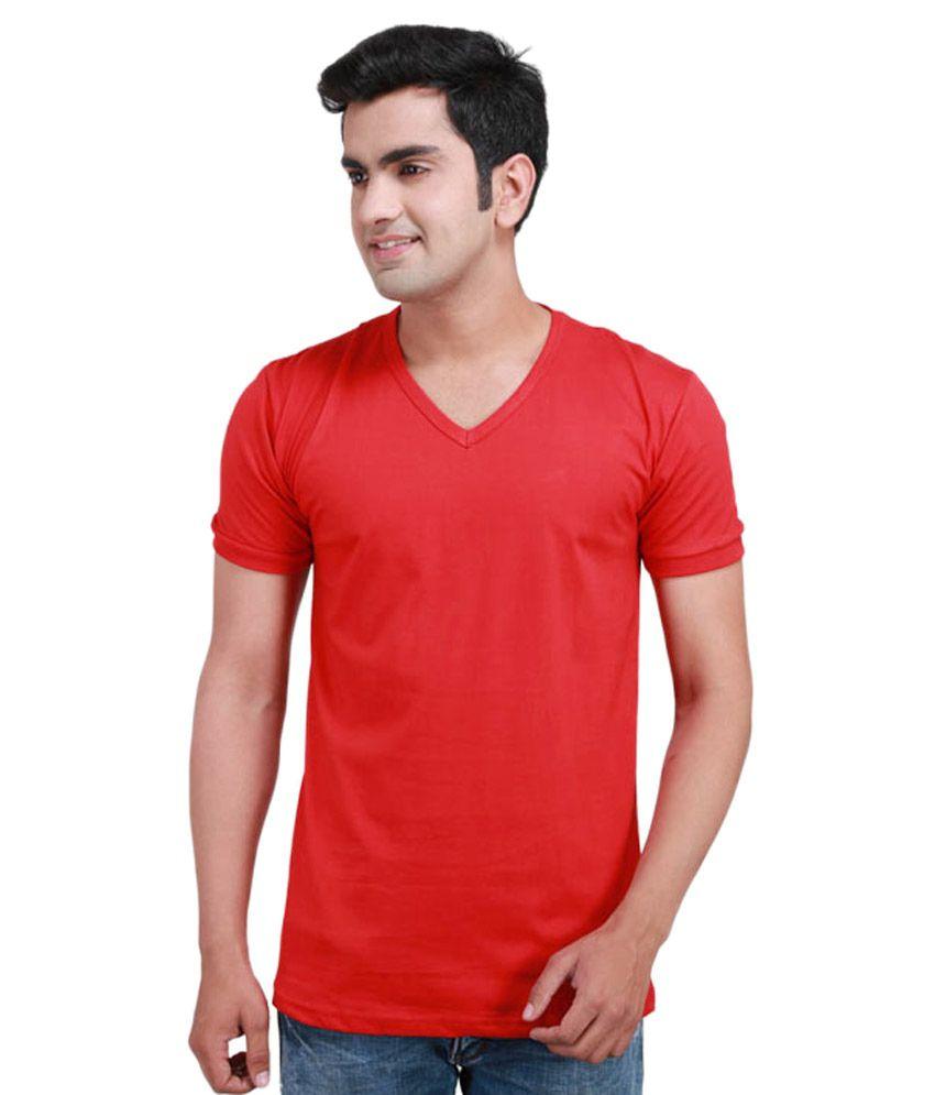 Buddha Garments Red Cotton T-Shirt