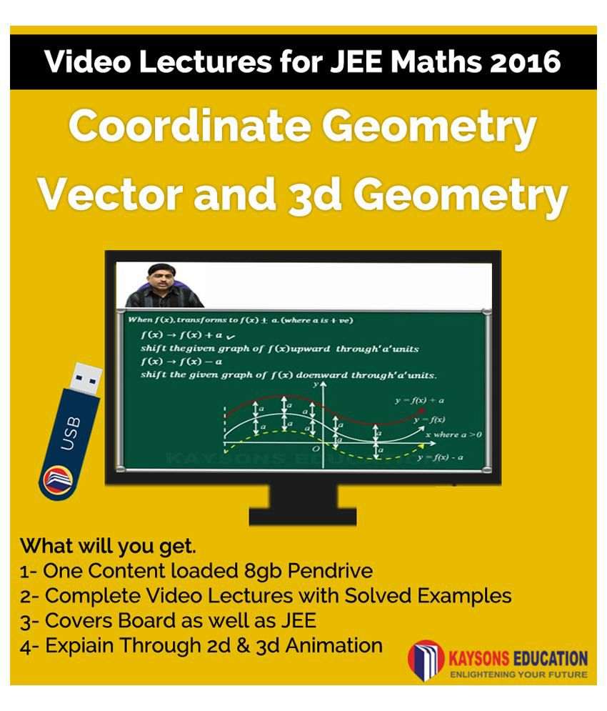 Kaysons Coordinate Geometry and Vector and 3d Geometry Video Lectures for JEE Mains and Advance in Pendrive/Micro Sd Card