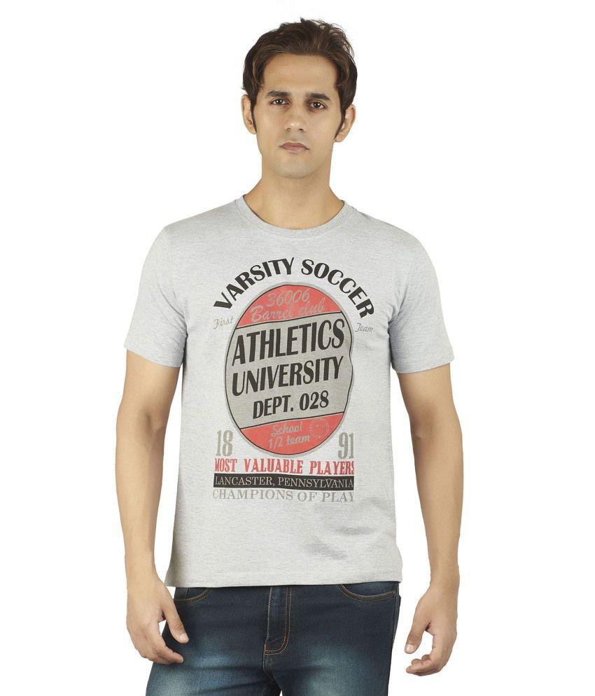 Soulrebel Grey Cotton T-Shirt
