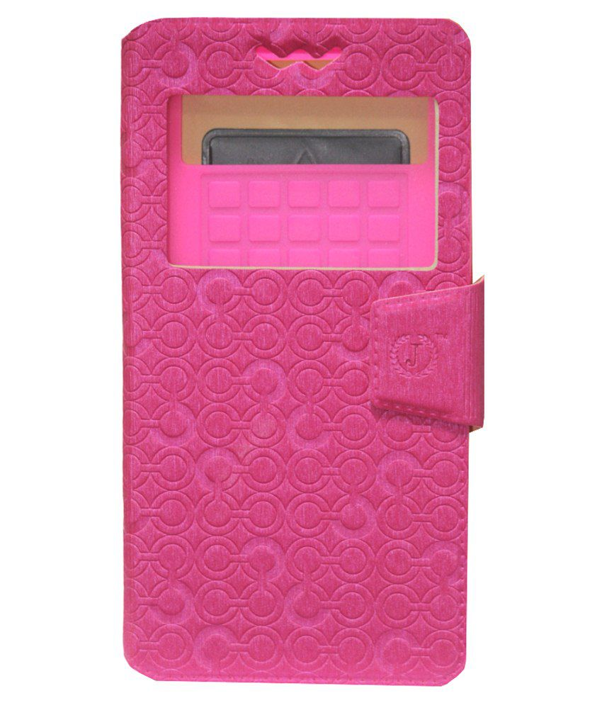 Jo Jo Cover Flip Cover With Silicon Holder For Alcatel One Touch Fierce Exotic-Pink