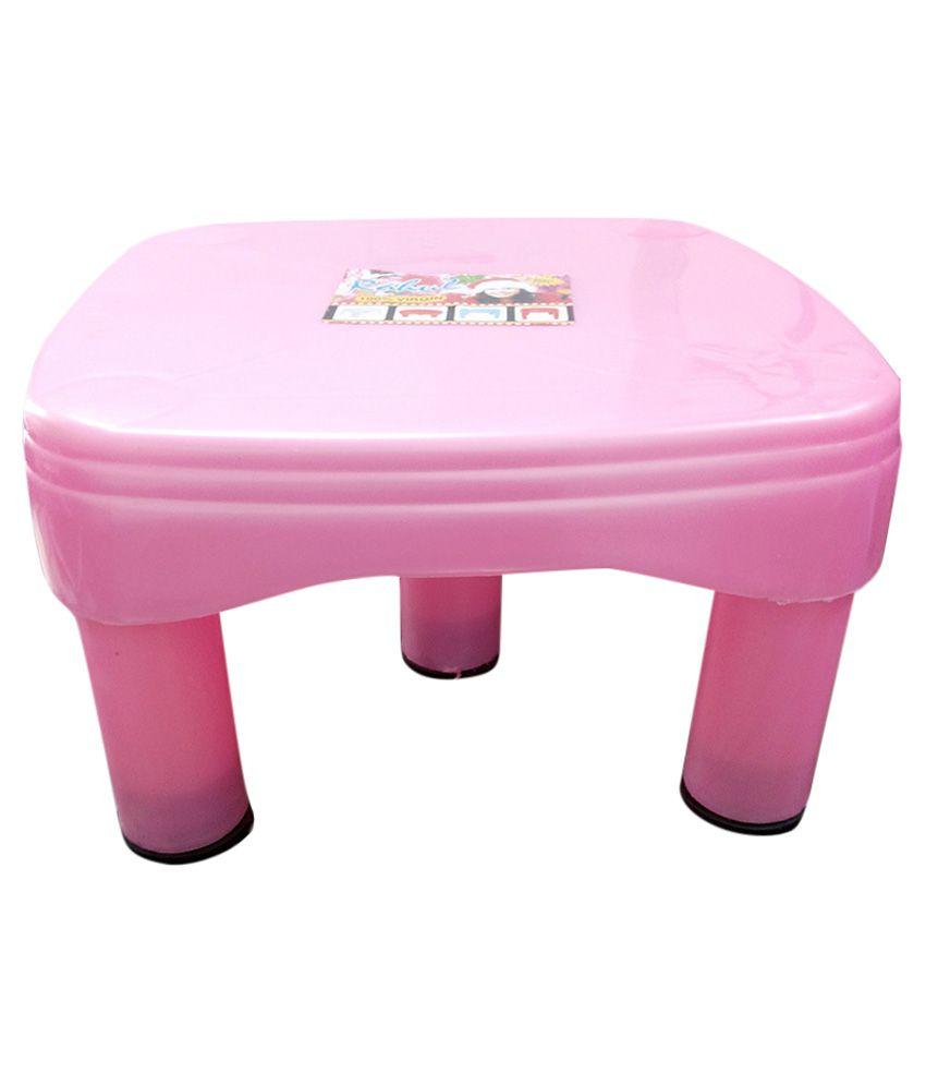 Unique Trades Pink Virgin Plastic Bathroom Stool Buy