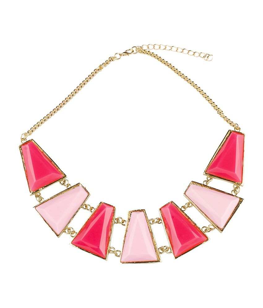 Ajara Pink Alloy Necklace