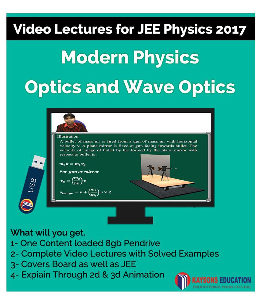 Kaysons Modern physics and Optics Video Lectures for JEE Mains and Advance in Pendrive/Micro Sd Card
