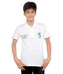 Menthol White Cotton Polo T-Shirt