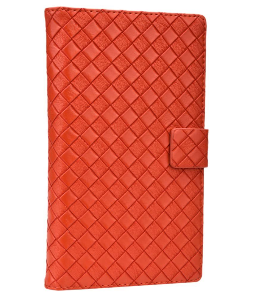 Jo Jo Flip Cover For Panasonic P11 - Orange