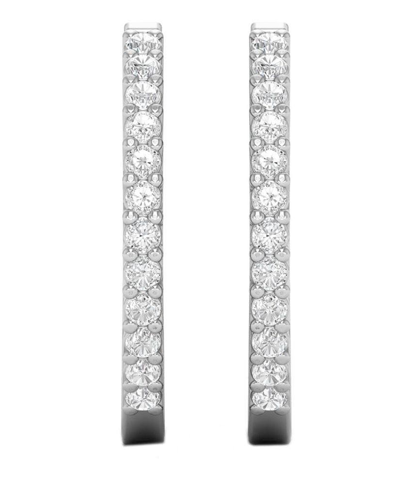 Kataria Jewellers Womens Hoop Earrings 925 BIS Hallmarked Sterling Silver