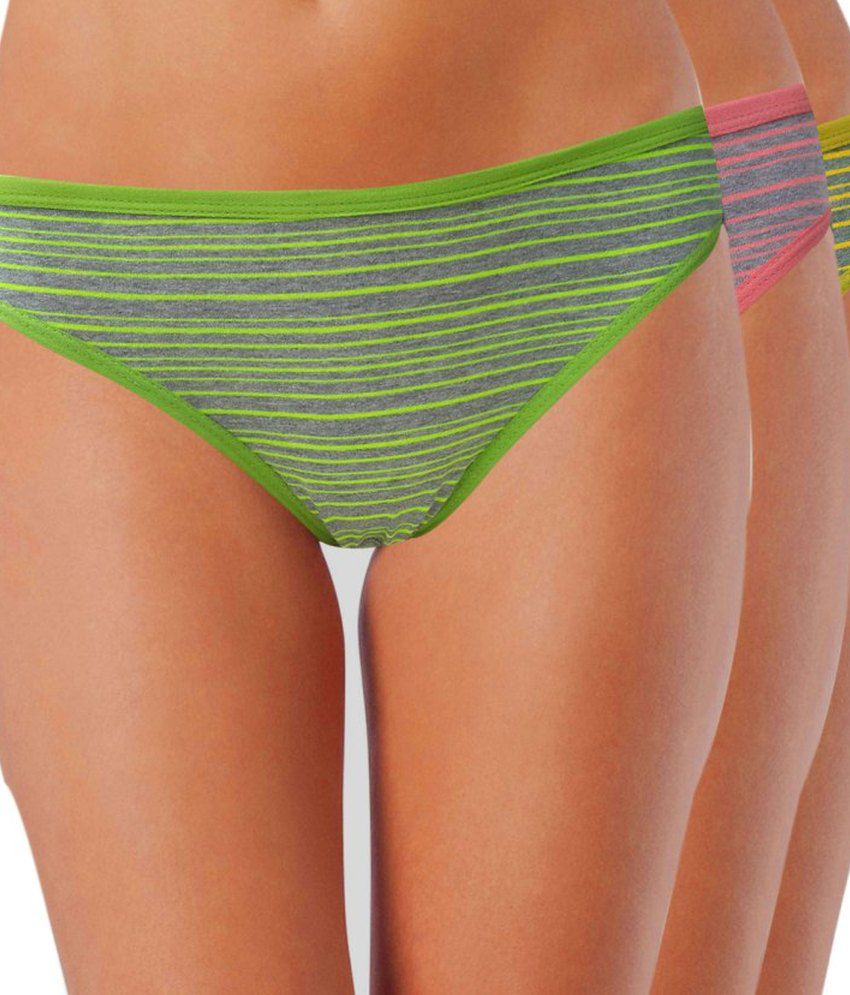 Lure wear Multi Color Cotton Panties Pack of 3