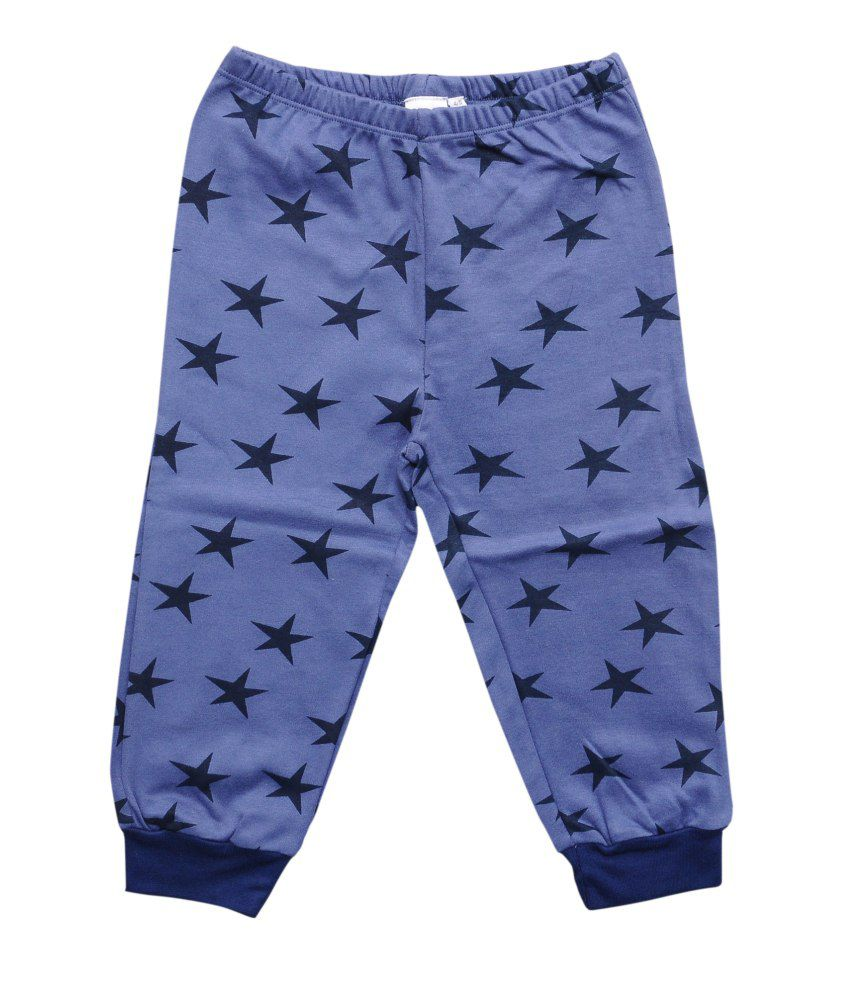 Most Wanted Blue Graphics Cotton Capri
