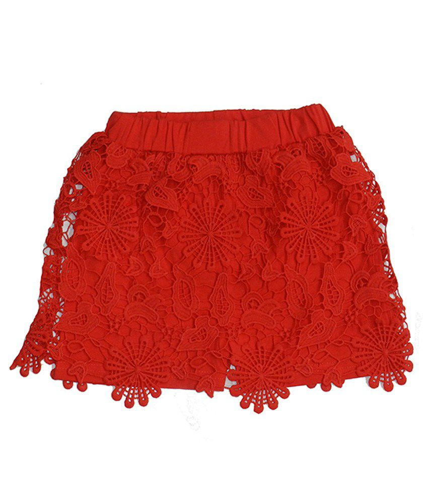 Rapchik Kid Red Shorts For Girls