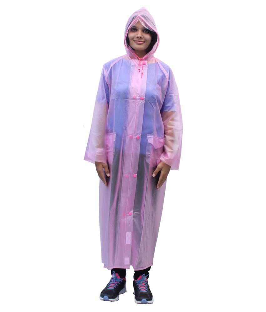 Romano Women'S Pink Rain Overcoat
