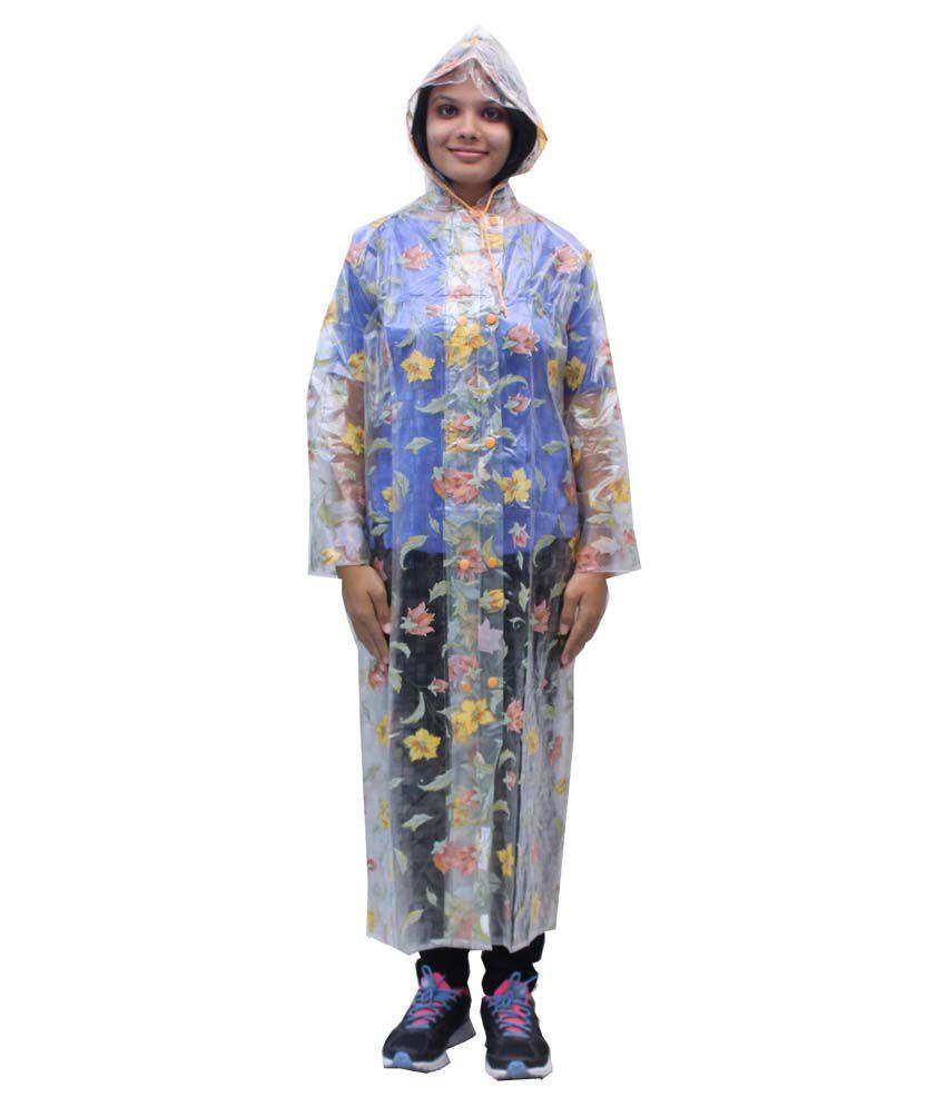 Romano Women'S Transparent Hooded Rain Overcoat